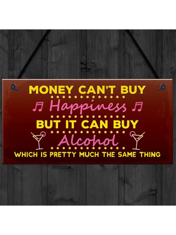 Funny Neon Effect Bar Sign Hanging Pub Sign Garden Plaque