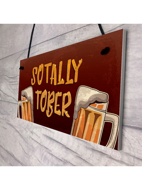 Funky Neon Effect Bar Sign Garden Plaque Alcohol Man Cave Sign