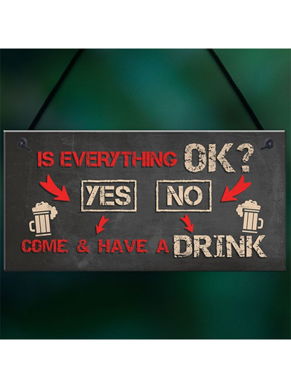 Funny Bar Sign Garden Plaque Alcohol Man Cave Vintage Beer Gin