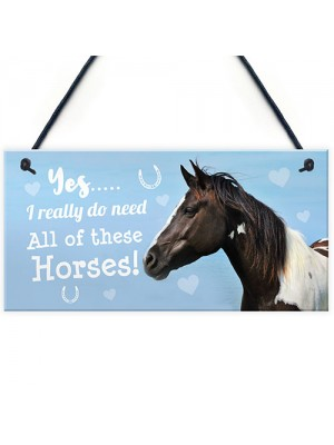 Funny Horse Lover Gift Horse Sign Funny Hanging Stable Door Sign