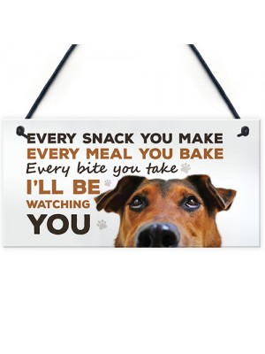 Funny Dog Sign For Home Hanging Home Kitchen Sign Funny Dog Gift