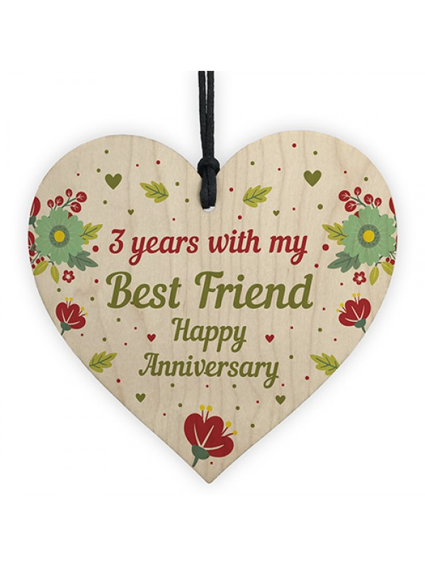 3rd Wedding Anniversary Gift For Husband Wife Wooden Heart Gifts