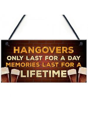 Alcohol Gin Beer Vodka Gift Hanging Home Bar Pub Garden Sign