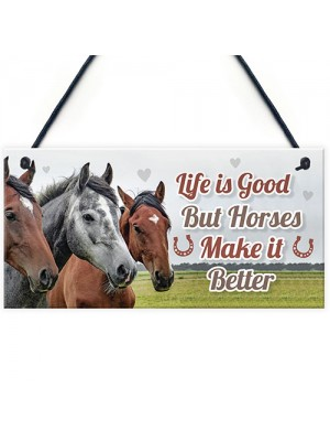 Horsey Daughter Gift For Christmas Horse Pony Stable Door Sign