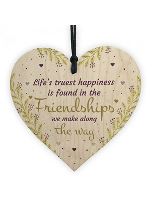Friendship Gifts For Women Wood Heart Best Friend Birthday Xmas