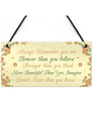 Stronger Inspirational Plaque Friendship Gifts Friendship Quote