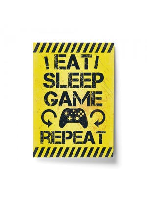 Gaming Sign Yellow Gaming Print For Wall Boys Bedroom Decor Gift