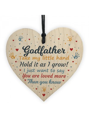 Godfather Gifts Best Friend Wooden Heart Plaque Thank You