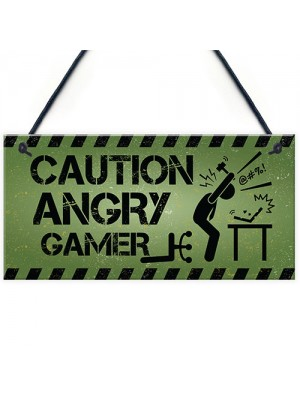 Funny Gamer Gift Gaming Sign Man Cave Sign Boys Bedroom Decor