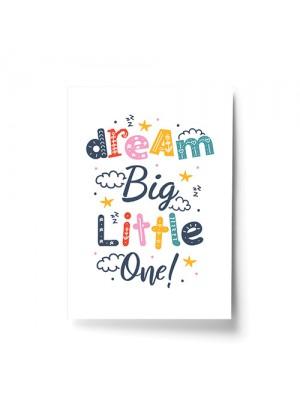 Nursery Print Dream Big Baby Kids Room Pictures Wall Art Decor