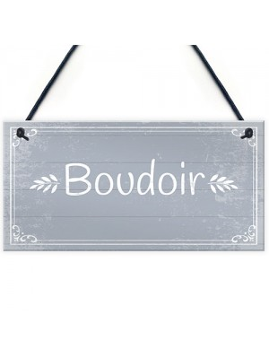 Boudoir Hanging Plaque Home Decor Bedroom Sign New Home Gift
