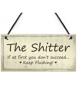 Funny Rude Toilet Loo Sign Plaque Accessories Novelty Bathroom