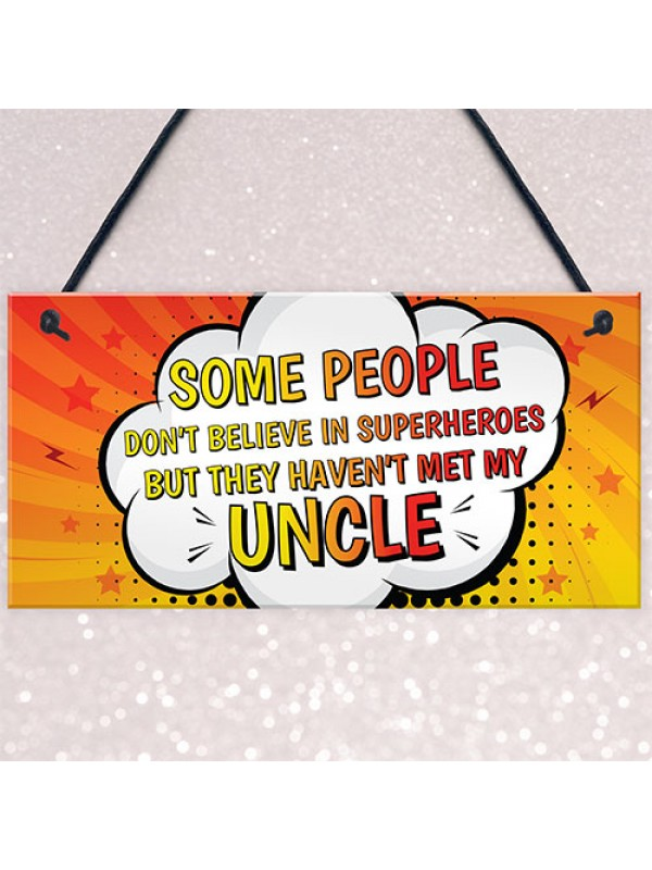 Superhero UNCLE Gifts Thank You Gift From Niece Nephew