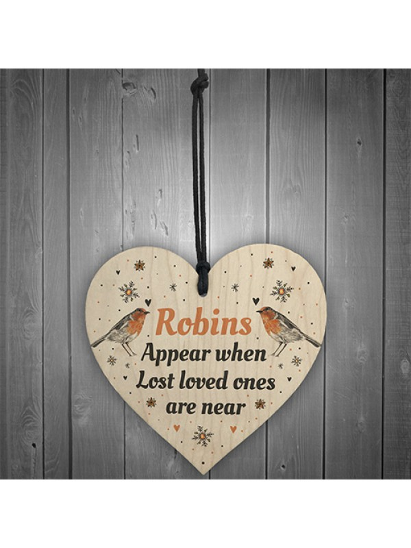 In Loving Memory Robins Appear Christmas Bauble Decoration Gift