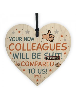 Colleague Heart Plaque Sign Friendship Gift Funny Colleague Gift