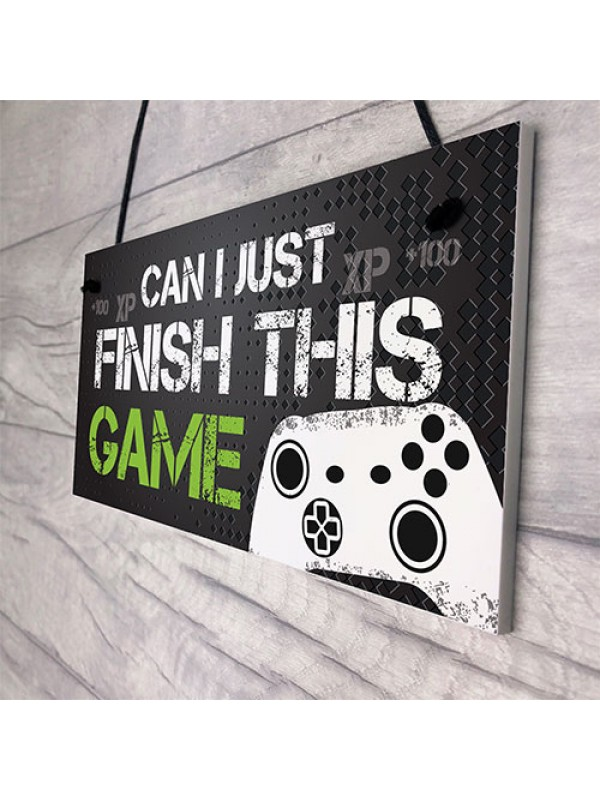 Funny Gamer Gift Gaming Sign For Boys Bedroom Man Cave Son Gift