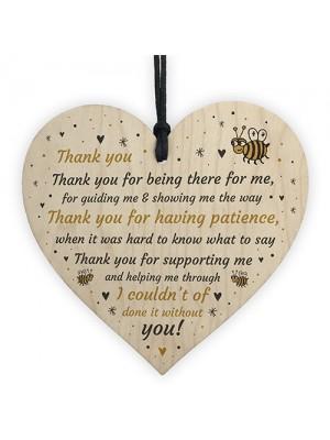 Special Thankyou Gift Wood Heart Boyfriend Girlfriend Husband