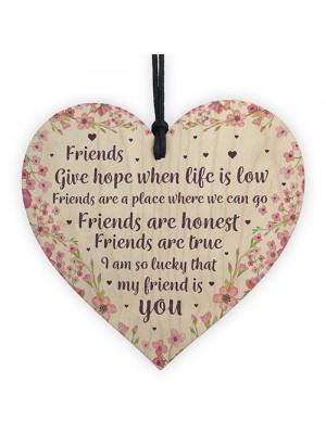 Inspirational Plaque Friendship Gift Best Friend Birthday Xmas