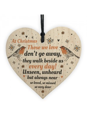 In Loving Memory Robin Christmas Bauble Decoration Mum Dad Gift