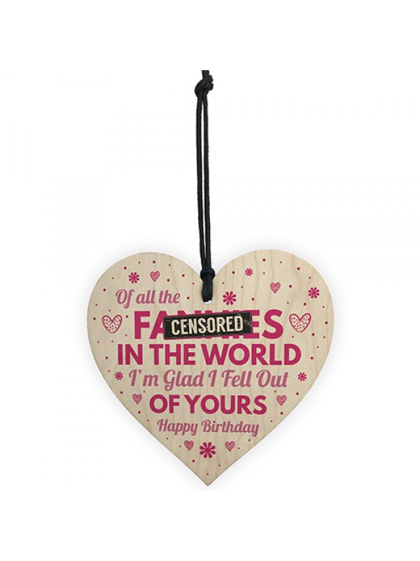 Funny Rude Mum Birthday Gifts Novelty Wood Heart Gift For Mum