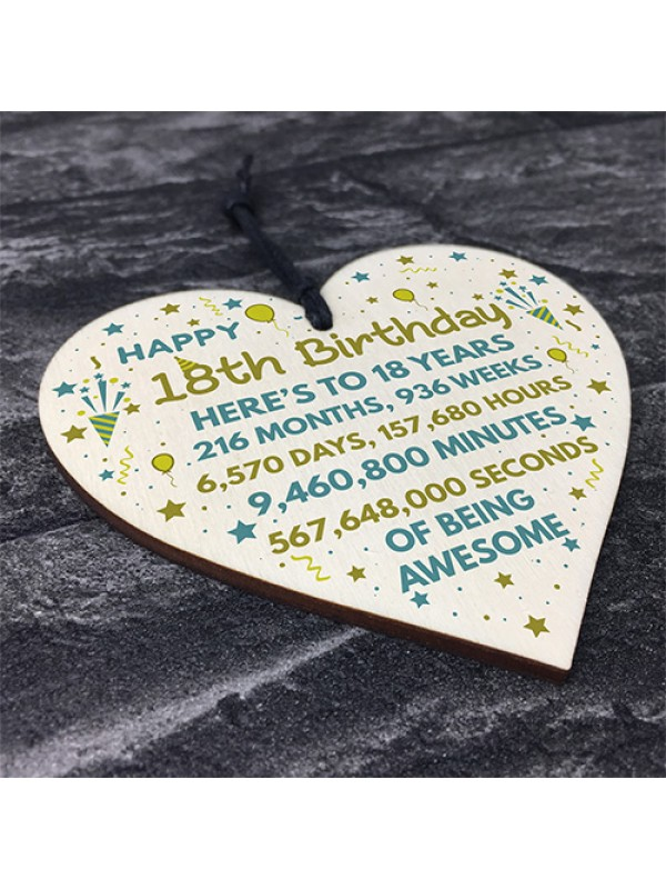 18th Birthday Gift For Daughter Son 18th Birthday Card Heart
