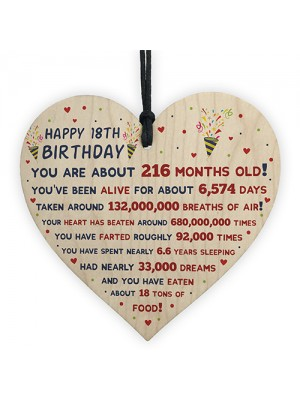 18th Birthday Gift For Daughter Son 18th Birthday Facts Heart