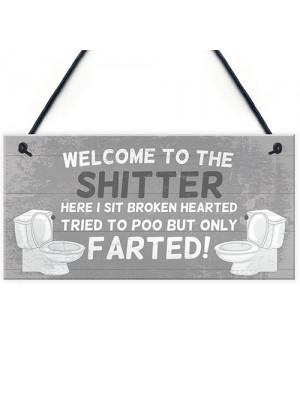 Bathroom Sign For Door Funny Bathroom Sign Shabby Chic Decor