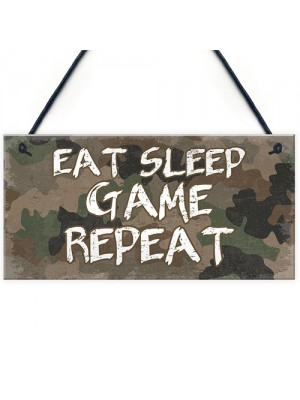 Gaming Sign Funny Gamer Gift For Boys Bedroom Decor ManCave Sign