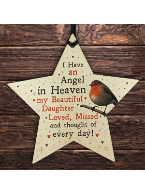 Robin Memorial Tree Hanging Decoration Daughter Memorial Gift