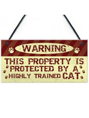 Cat Signs And Plaques Beware Cat Sign Funny Cat Sign Decor