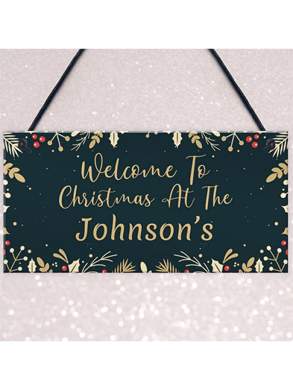 Welcome To Christmas Decoration Xmas Tree New Home Gift