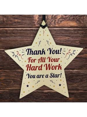 Special Thank You Gift Wood Heart Teacher Mentor Volunteer Gift