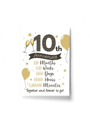 10th Wedding Anniversary Gift Print Mr & Mrs Anniversary Gifts