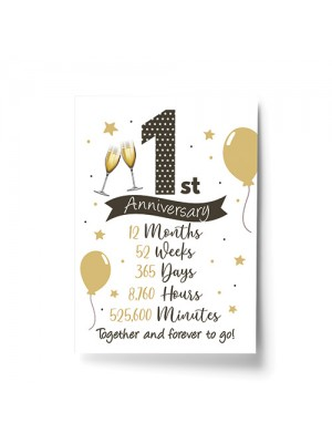 1st Wedding Anniversary Gift Print Mr & Mrs Anniversary Gifts