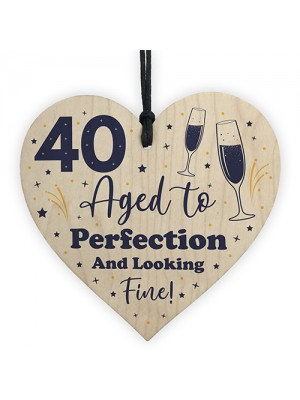 40th Birthday Gift For Him or Her Aged To Perfection 40th Card