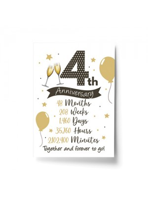 4th Wedding Anniversary Gift Print Mr & Mrs Anniversary Gifts