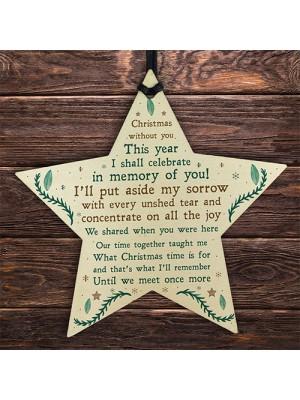 Memorial Sign For Mum Dad Nan Grandad Memory Plaque Xmas Tree