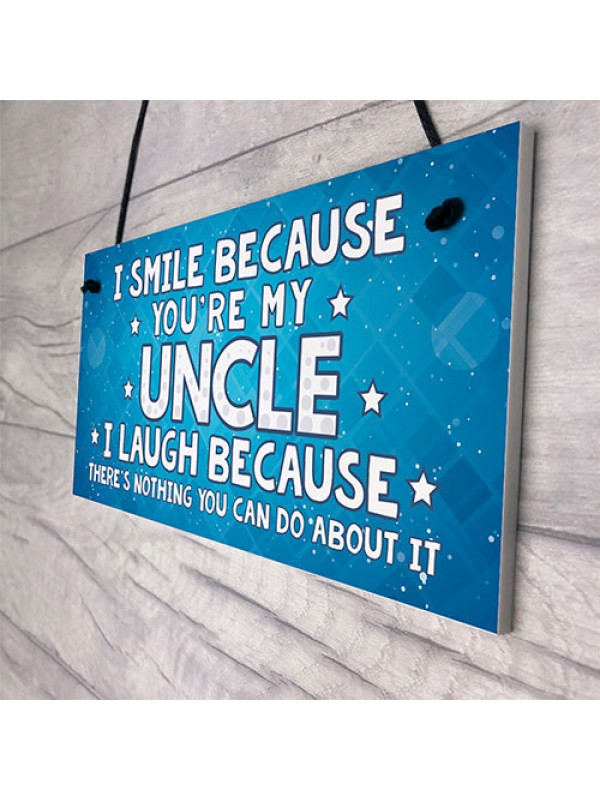 Funny Uncle Gift Plaque Novelty Uncle Birthday Christmas Gift