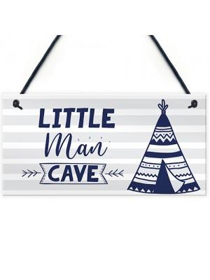 Little Man Cave Sign For Boys Bedroom Bedroom Wall Art Door Sign