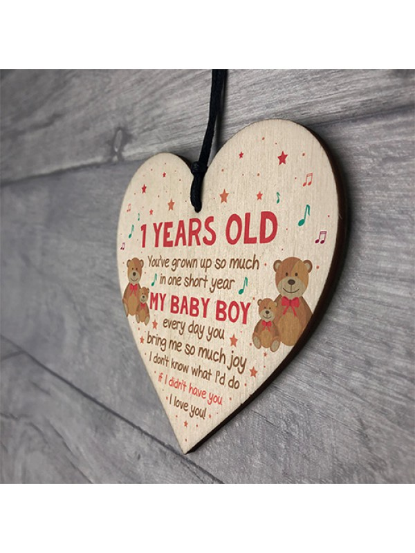 1st Birthday Gift For Son 1st Birthday Decoration 1st Card
