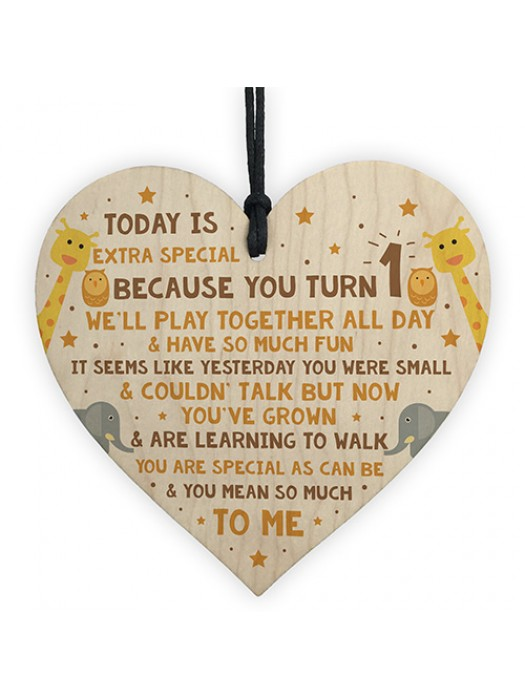 1st Birthday Gift For Daughter Son Wood Heart Accessories Bpy