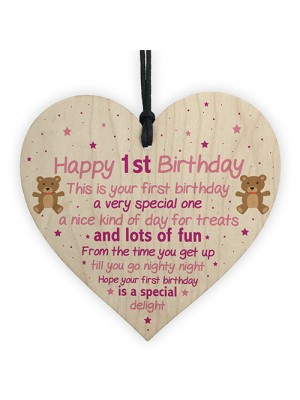 1st Birthday Gift For Daughter 1st Birthday Card 1st Birthday