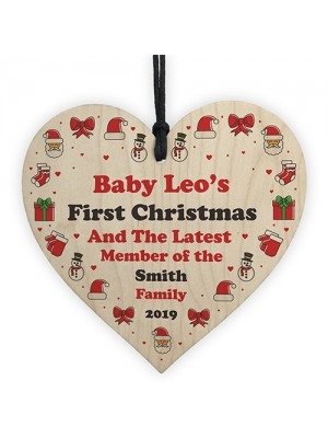 Babys First Christmas Tree Decoration Personalised 1st Christmas