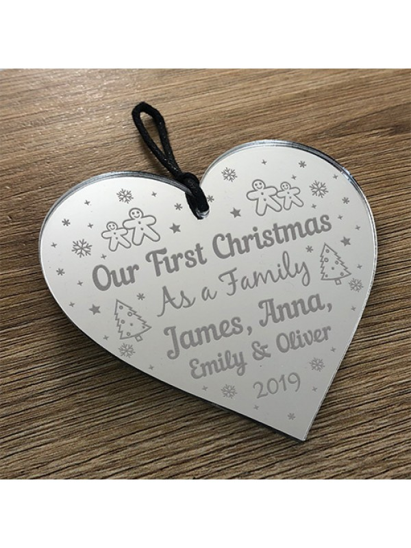 1st Christmas Bauble Personalised Gift Xmas Tree 1st Christmas