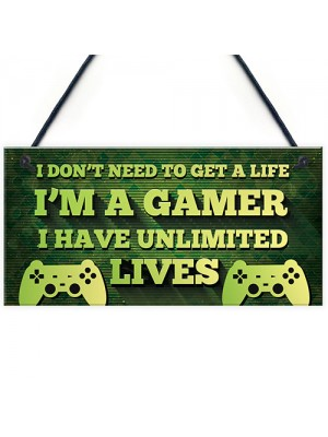 Gaming Sign Bedroom Accessories Hanging Sign For Games Room