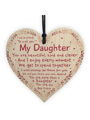 Gifts For Her Daughter Birthday Christmas Gift Wooden Heart Gift