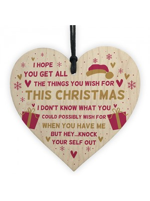 Novelty Funny Christmas Gift For Mum Dad Brother Sister Heart