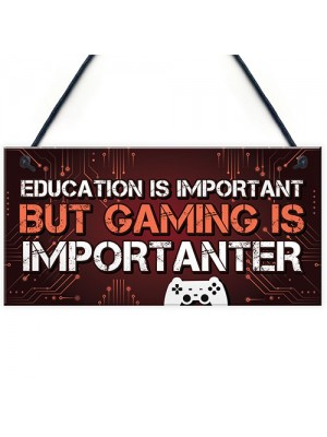 Funny Gaming Sign Playstation Inspired Novelty Christmas Gift