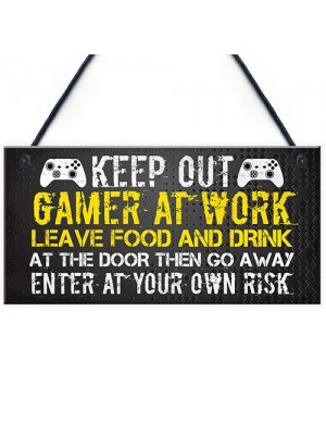Novelty Gaming Sign Xbox Inspired Funny Christmas Gift For Son