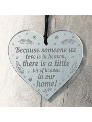 Handmade Heart Plaque Memorial Gift to Remember Lost Loved Ones